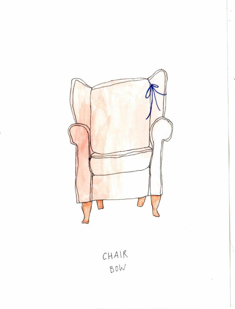 Chair drawing bow flesh Lauren Art Villa Lena art foundation residency