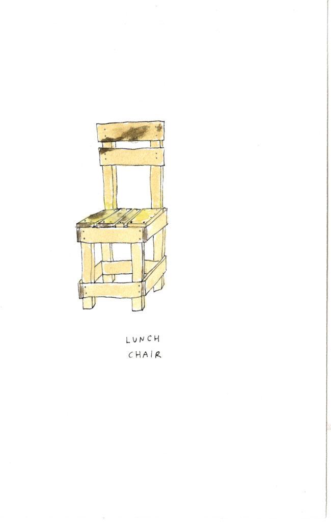ART CHAIRS DRAWING TUSCANY VILLA LENA